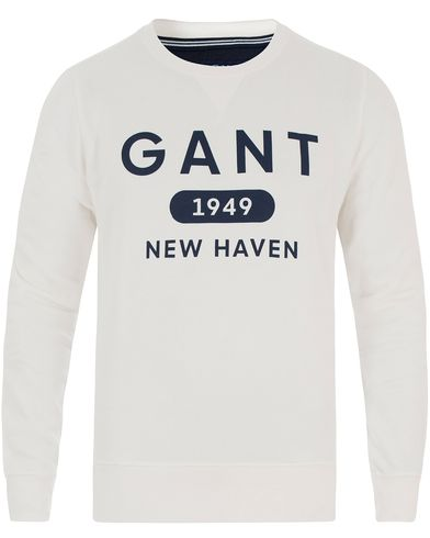 Gant Athletic Sweatshirt Eggshell i gruppen Kläder / Tröjor / Sweatshirts hos Care of Carl (13468711r)