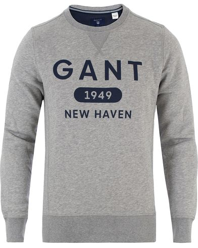 Gant Athletic Sweatshirt Grey Melange i gruppen Tröjor / Sweatshirts hos Care of Carl (13468811r)