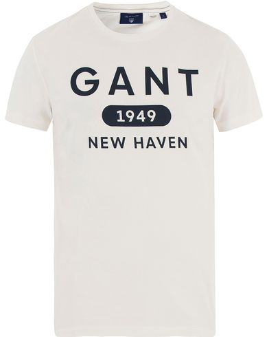 Gant Athletics Tee Eggshell i gruppen T-Shirts hos Care of Carl (13469511r)