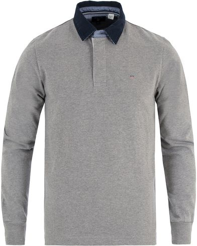 Gant Solid Heavy Rugger Grey Melange i gruppen Gensere / Rugbygensere hos Care of Carl (13469911r)