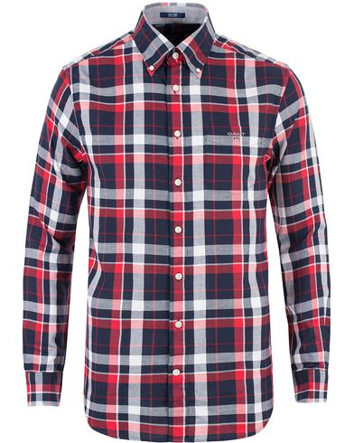 GANT Tech Prep Check Dobby Regular Fit Shirt Clear Red i gruppen Kläder / Skjortor / Casual skjortor hos Care of Carl (13470011r)