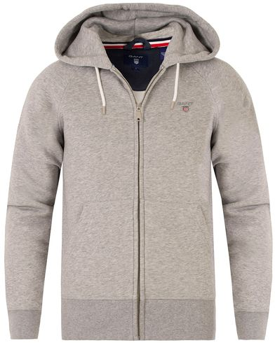 Gant The Original Full Zip Sweat Hoodie Grey Melange i gruppen Klær / Gensere / Hettegensere hos Care of Carl (13470411r)