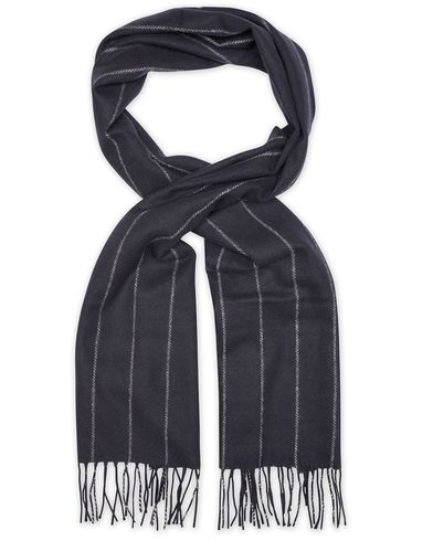 Tiger of Sweden Leander Pinstripe Wool Scarf Navy  i gruppen Accessoarer / Halsdukar hos Care of Carl (13472410)