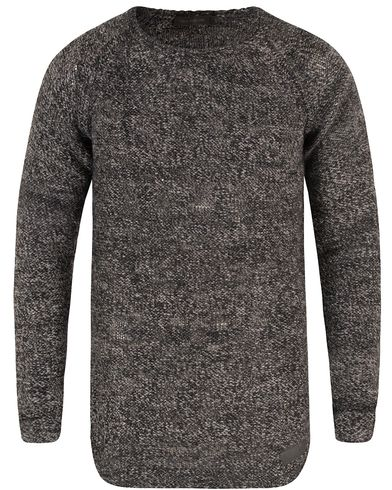 Tiger of Sweden Jeans Rag Knitted Crew Neck Grey i gruppen Klær / Gensere / Strikkede gensere hos Care of Carl (13473311r)