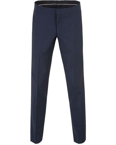 Tiger of Sweden Gordon 5 Tuxedo Trousers Blue i gruppen Design A / Byxor / Smokingbyxor hos Care of Carl (13473811r)