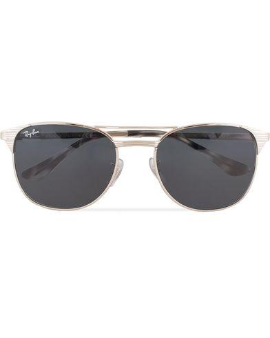 Ray-Ban 0RB3429M Sunglasses Shiny Silver  i gruppen Solbriller / Buede solbriller hos Care of Carl (13475110)