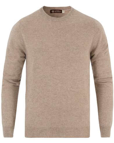 Morris Heritage Cashmere O-Neck Beige i gruppen Tröjor / Stickade tröjor hos Care of Carl (13475611r)