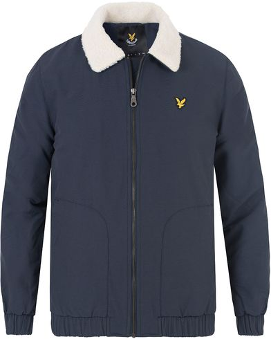 Lyle & Scott Shearling Lined Bomber Jacket Navy i gruppen Jackor / Bomberjackor hos Care of Carl (13475911r)