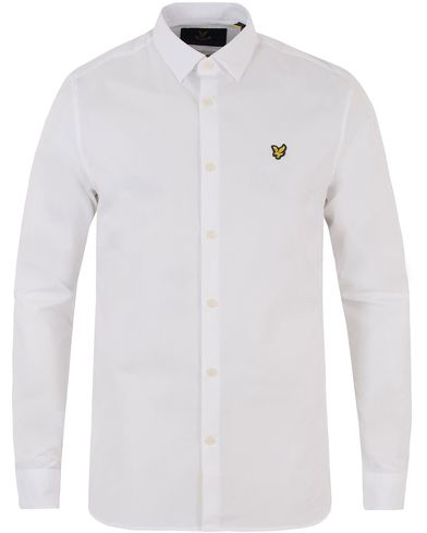 Lyle & Scott Slim Fit Poplin Shirt White i gruppen Skjortor / Casual skjortor hos Care of Carl (13476011r)