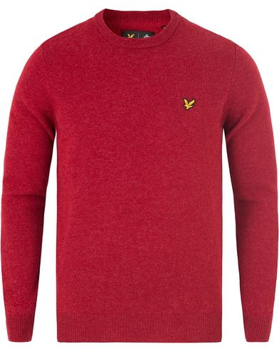 Lyle & Scott Lambswool Crew Neck Jumper Red Marl i gruppen Tröjor / Pullovers / Rundhalsade pullovers hos Care of Carl (13476211r)