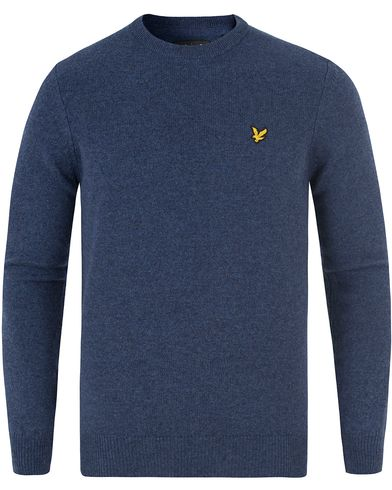 Lyle & Scott Lambswool Crew Neck Jumper Navy Marl i gruppen Tröjor / Pullovers / Rundhalsade pullovers hos Care of Carl (13476311r)