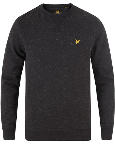 Lyle & Scott Flecked Crew Neck Sweatshirt True Black i gruppen Tröjor / Sweatshirts hos Care of Carl (13476511r)
