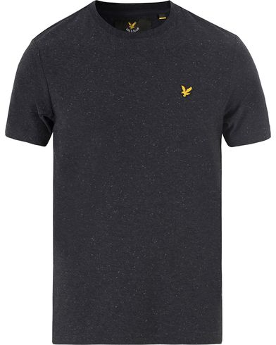 Lyle & Scott Flecked Crew Neck Tee True Black i gruppen T-Shirts hos Care of Carl (13476611r)