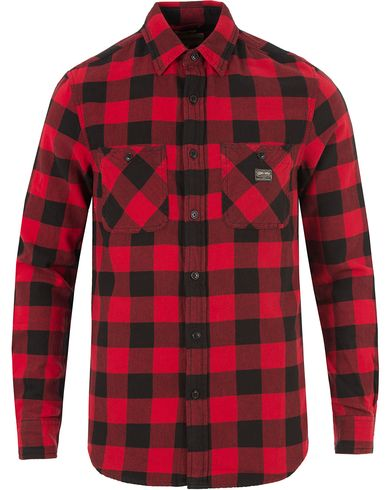 Denim & Supply Ralph Lauren Pocket Check Shirt Red/Black i gruppen Kläder / Skjortor / Casual skjortor hos Care of Carl (13477011r)
