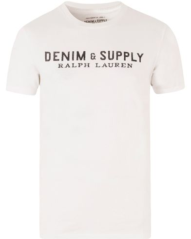 Denim & Supply Ralph Lauren Logo Crew Neck Tee White i gruppen T-Shirts / Kortärmade t-shirts hos Care of Carl (13477211r)