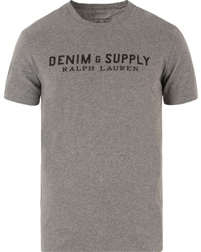 Denim & Supply Ralph Lauren Logo Crew Neck Tee Grey i gruppen T-Shirts / Kortärmade t-shirts hos Care of Carl (13477311r)