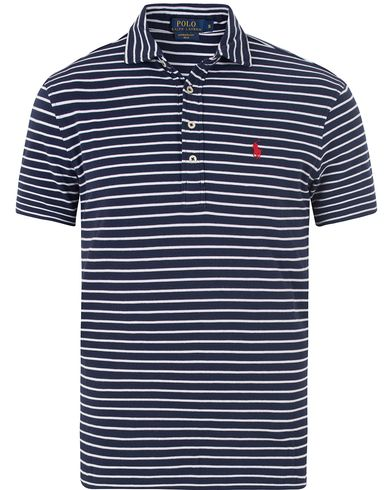 Polo Ralph Lauren Featherweight Polo Cruise Navy/White i gruppen Pikéer / Kortärmade pikéer hos Care of Carl (13478611r)