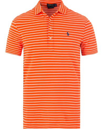 Polo Ralph Lauren Featherweight Polo Active Orange White i gruppen Pikéer / Kortärmade pikéer hos Care of Carl (13478711r)
