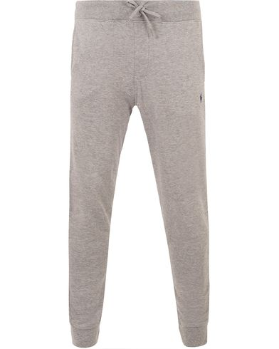 Polo Ralph Lauren Double Jersey Sweatpants Winter Grey Heather i gruppen Kläder / Byxor / Mjukisbyxor hos Care of Carl (13479111r)