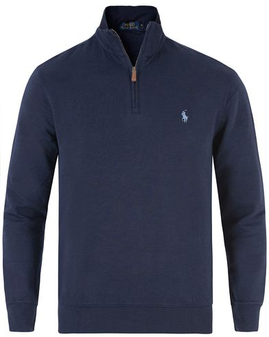 Polo Ralph Lauren Double Jersey Half Zip Sweater Cruise Navy i gruppen Kläder / Tröjor / Zip-tröjor hos Care of Carl (13479311r)