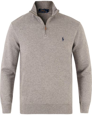 Polo Ralph Lauren Double Jersey Half Zip Sweater Winter Grey Heather i gruppen Kläder / Tröjor / Zip-tröjor hos Care of Carl (13479411r)