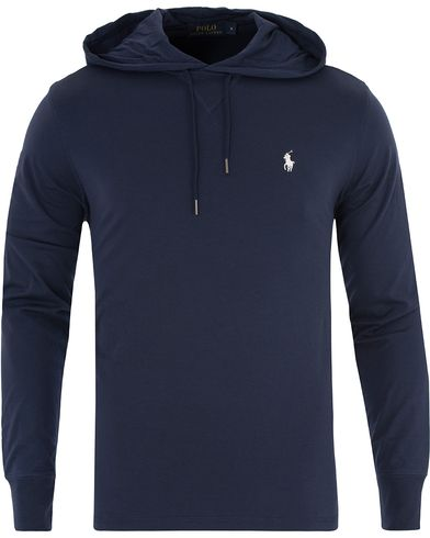Polo Ralph Lauren Featherweight Pima Hoodie Cruise Navy i gruppen Tröjor / Huvtröjor hos Care of Carl (13480611r)