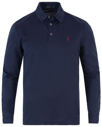 Polo Ralph Lauren Long Sleeve Polo Cruise Navy i gruppen Pikéer / Långärmade pikéer hos Care of Carl (13480711r)