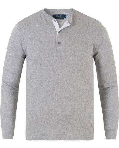 Polo Ralph Lauren Long Sleeve Henley Andover Heather i gruppen Kläder / Tröjor / Farfarströjor hos Care of Carl (13480811r)