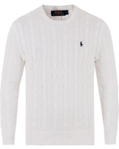 Polo Ralph Lauren Cotton Cable Pullover Collection White i gruppen Kläder / Tröjor / Stickade tröjor hos Care of Carl (13481011r)