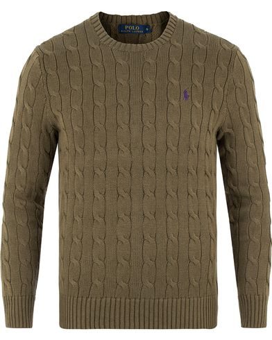 Polo Ralph Lauren Cotton Cable Pullover New Olive i gruppen Tröjor / Stickade tröjor hos Care of Carl (13481111r)