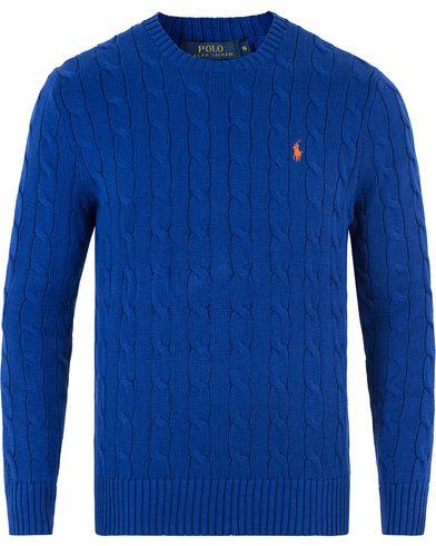 Polo Ralph Lauren Cotton Cable Pullover Heritage Royal Blue i gruppen Tröjor / Stickade tröjor hos Care of Carl (13481211r)