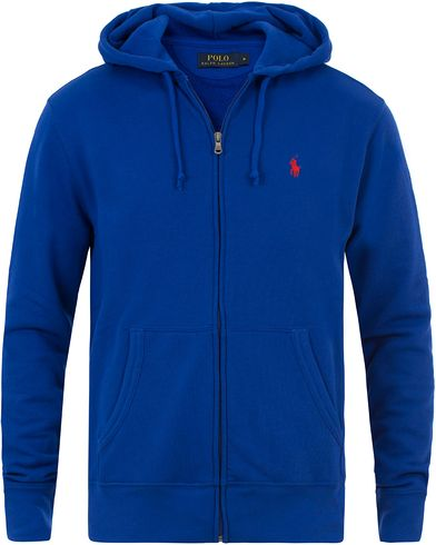Polo Ralph Lauren Full Zip Hoodie Royal Blue i gruppen Kläder / Tröjor / Huvtröjor hos Care of Carl (13481711r)