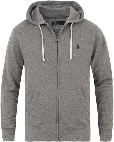 Polo Ralph Lauren Full Zip Hoodie Speedway Grey i gruppen Tröjor / Huvtröjor hos Care of Carl (13481811r)
