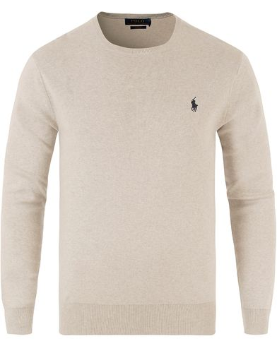 Polo Ralph Lauren Pima Cotton Crew Neck Light Grey i gruppen Tröjor / Pullovers / Rundhalsade pullovers hos Care of Carl (13481911r)