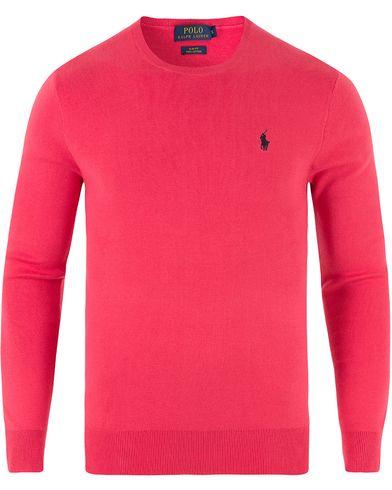 Polo Ralph Lauren Pima Cotton Crew Neck Tropic Pink i gruppen Kläder / Tröjor / Pullovers / Rundhalsade pullovers hos Care of Carl (13482011r)