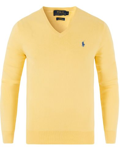Polo Ralph Lauren Pima Cotton V-Neck Soft Lemon i gruppen Kläder / Tröjor / Pullovers / V-ringade pullovers hos Care of Carl (13482211r)
