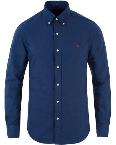 Polo Ralph Lauren Slim Fit Garment Dyed Oxford Shirt Holiday Navy i gruppen Skjortor / Oxfordskjortor hos Care of Carl (13482811r)