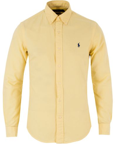 Polo Ralph Lauren Slim Fit Garment Dyed Oxford Shirt Yellow i gruppen Skjortor / Oxfordskjortor hos Care of Carl (13482911r)