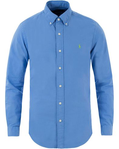 Polo Ralph Lauren Slim Fit Garment Dyed Oxford Shirt Harbour Island Blue i gruppen Design A / Skjortor / Oxfordskjortor hos Care of Carl (13483011r)