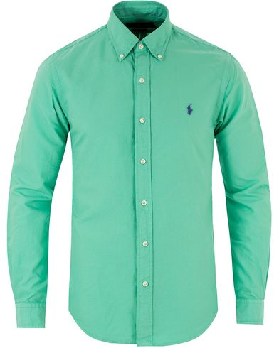 Polo Ralph Lauren Slim Fit Garment Dyed Oxford Shirt Pale Kelly i gruppen Kläder / Skjortor / Oxfordskjortor hos Care of Carl (13483111r)