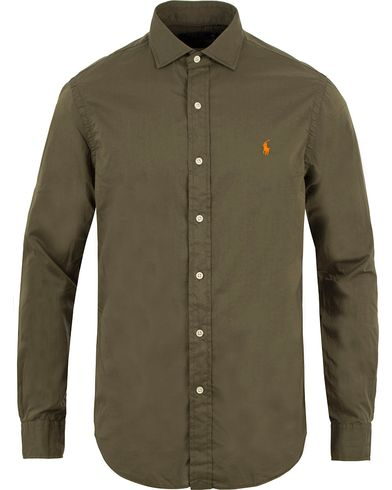 Polo Ralph Lauren Slim Fit Twill Shirt Olive i gruppen Kläder / Skjortor / Casual skjortor hos Care of Carl (13483211r)