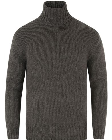 Polo Ralph Lauren Cashmere Roll Neck Grey Heather i gruppen Kläder / Tröjor / Polotröjor hos Care of Carl (13483611r)