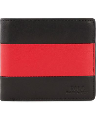 Polo Ralph Lauren Stripe Bildfold Wallet Red/Black  i gruppen Accessoarer / Plånböcker / Vanliga plånböcker hos Care of Carl (13484010)