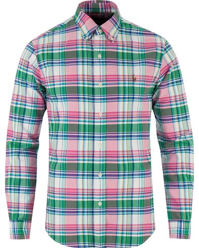 Polo Ralph Lauren Slim Fit Oxford Check Shirt Green/Pink i gruppen Kläder / Skjortor / Oxfordskjortor hos Care of Carl (13484311r)