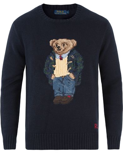 Polo Ralph Lauren Knitted Preppy Bear Crew Neck Navy i gruppen Tröjor / Stickade tröjor hos Care of Carl (13484711r)