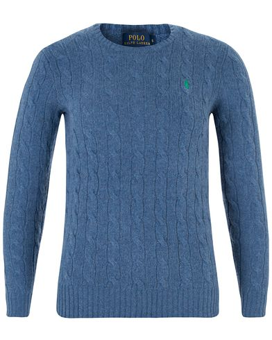 Polo Ralph Lauren Woman Julianna Wool Cable Night Blue Heather i gruppen Accessoarer hos Care of Carl (13485311r)