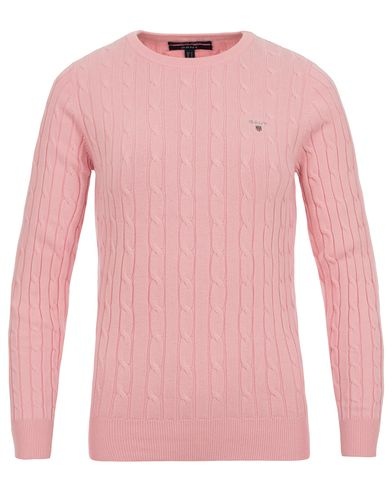 Gant Woman Cotton Cable Crew Neck Preppy Pink i gruppen Accessoarer hos Care of Carl (13485811r)