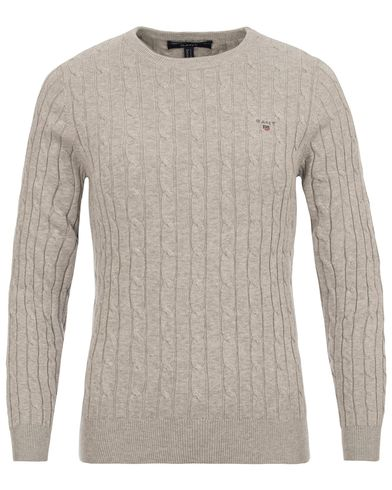 Gant Woman Cotton Cable Crew Neck Light Grey i gruppen Accessoarer hos Care of Carl (13485911r)