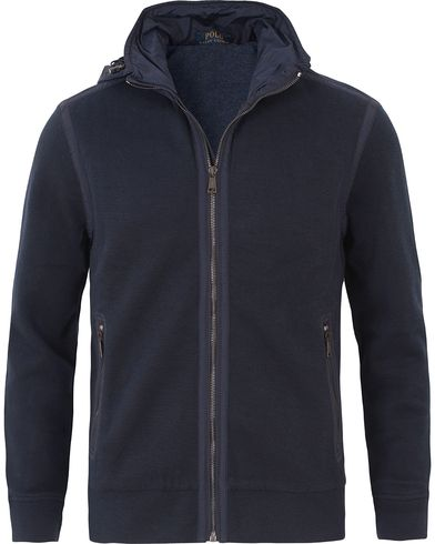 Polo Ralph Lauren Texture Full Zip Hoodie Cruise Navy i gruppen Tröjor / Huvtröjor hos Care of Carl (13487311r)