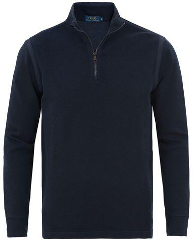 Polo Ralph Lauren Texture Half Zip Cruise Navy i gruppen Kläder / Tröjor / Zip-tröjor hos Care of Carl (13487411r)
